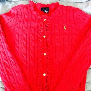 Girl's Ralph Lauren cardigan in pink